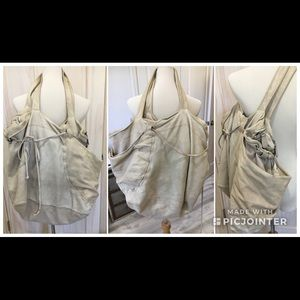 Huge Vintage Marni Washed Leather Tote Bag
